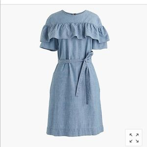 NWT J.Crew size 8 Edie Dress in Chambray